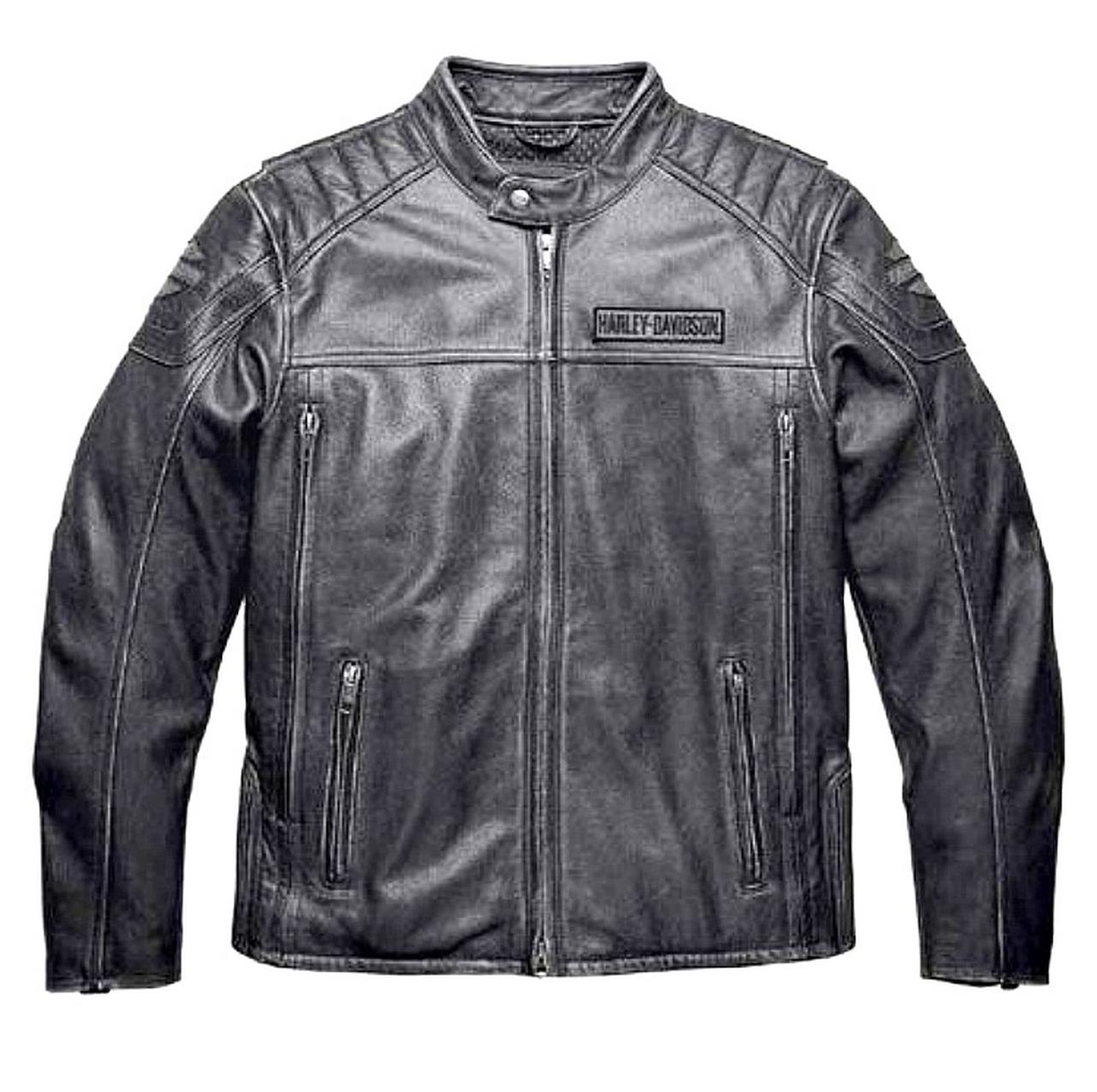 Harley-Davidson® Men's Midway Distressed Leather JacketL