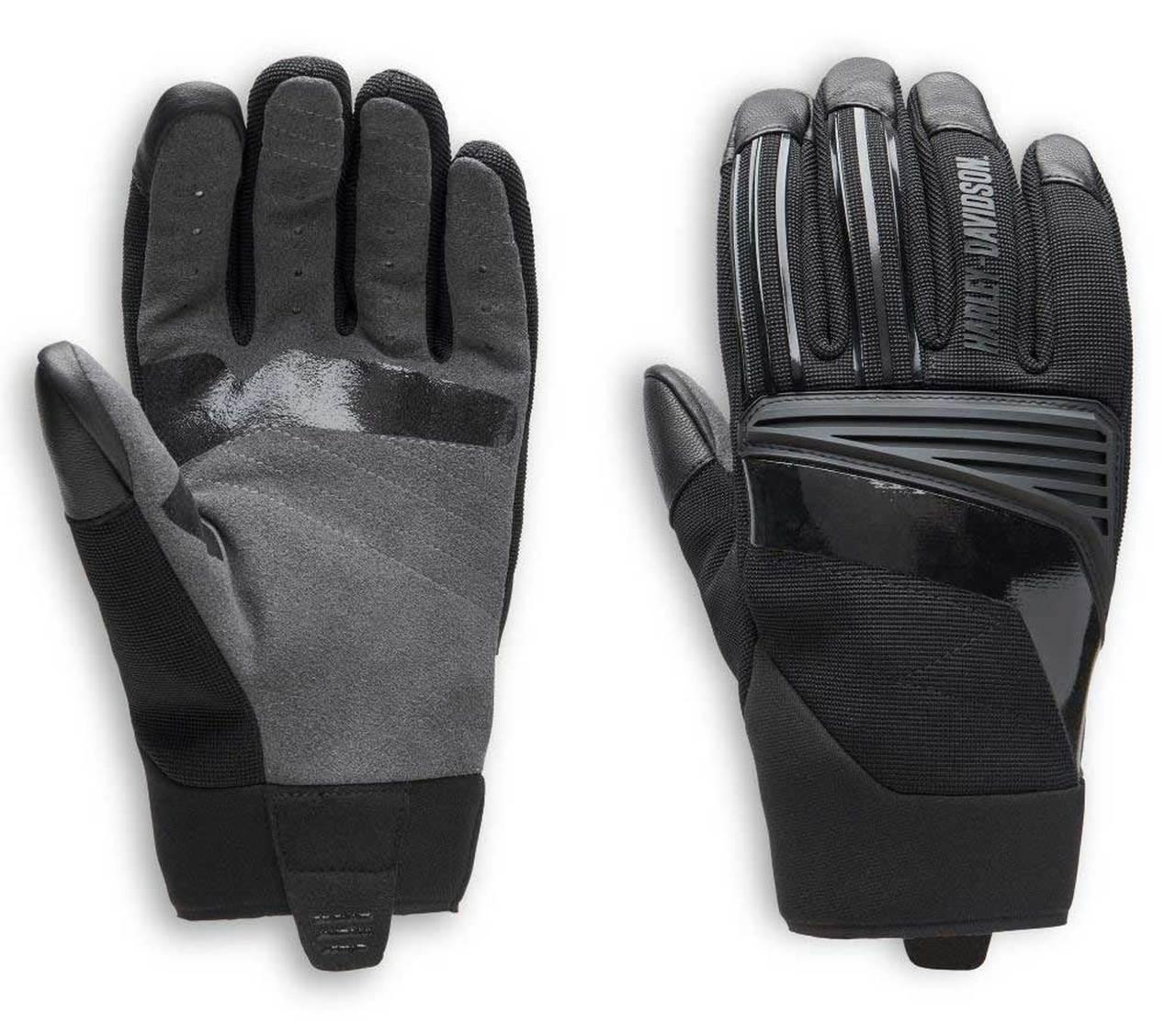 Harley-Davidson® Men's Sidari Mixed Media Full-Finger Gloves, Black