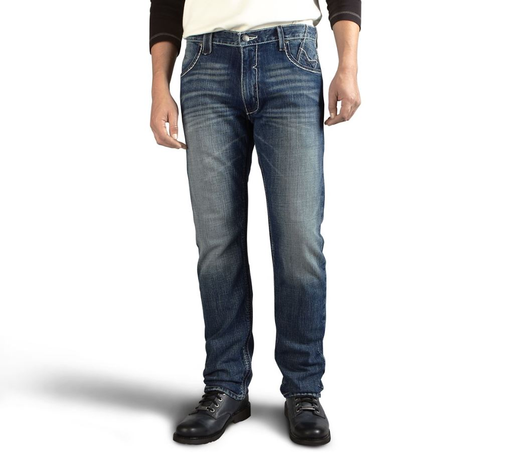 Harley-Davidson® Men's Straight Leg Fit Modern Jeans, Medium Indigo