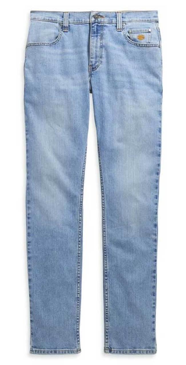 Harley-Davidson® Men's Straight Leg Fit Performance Modern Jeans, Blue