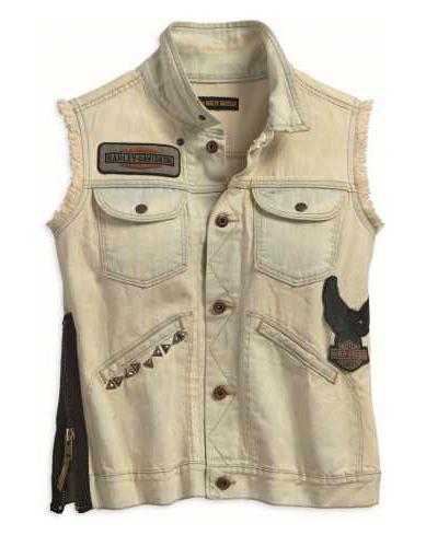 Harley-Davidson Damen Jeans Weste Overcast Side Zipper