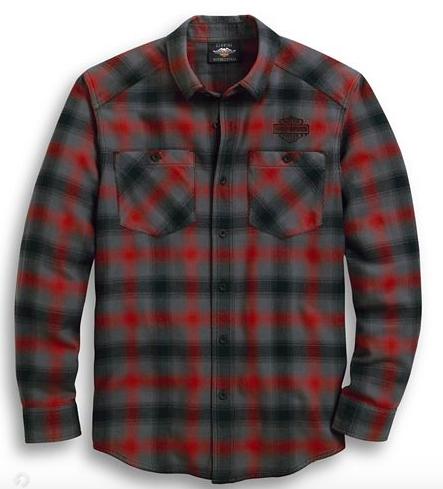 Harley-Davidson Men's Herringbone Plaid Shirt