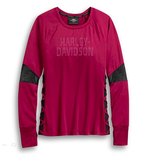 Harley Davidson Women's Performance Wicking Mesh Accent Top Part