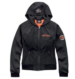 Harley Davidson jacket-lightweight, perf, hooded
