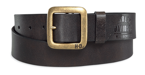 Harley Davidson brass finish buckle belt mens