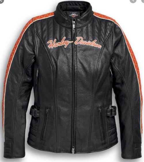 Harley Davidson jacket-vanocker, leather, black