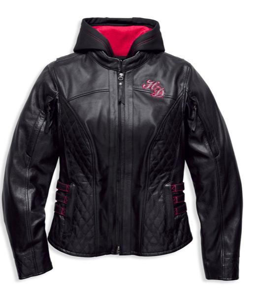 Harley-Davidson® Women's Scroll Skull 3-in-1 Leather Jacket