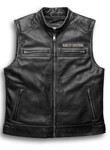 Harley Davidson Men's Passing Link Leather Vest