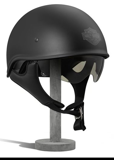 Harley Davidson Curbside Sun Shield X06 Half Helmet