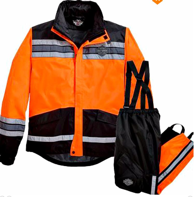 Harley-Davidson® Men's Hi-Vis Rain Suit Orange