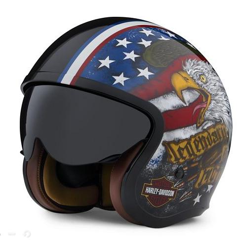 Harley Davidson Gavin Sun Shield M06 3/4 Helmet