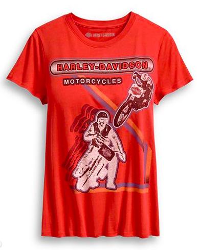 Harley Davidson Women's Retro Racing Tee