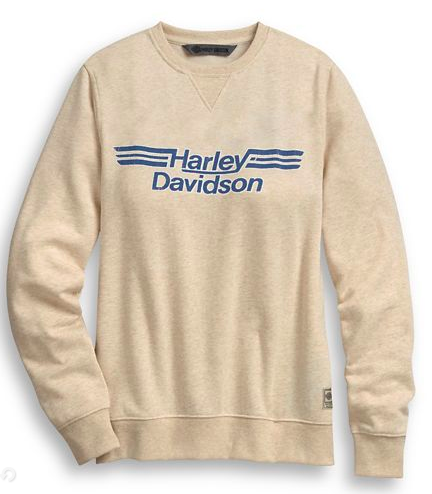Harley Davidson Women's Logo Stripe Pullover Sweatshirt