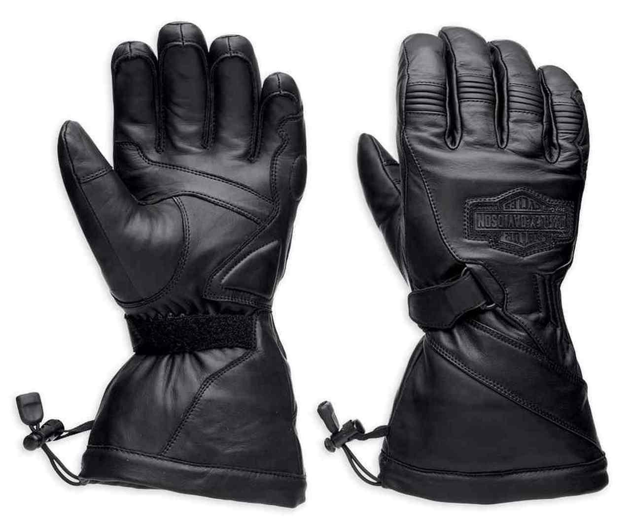 Harley-Davidson® Men's Circuit Waterproof Gauntlet Leather Gloves