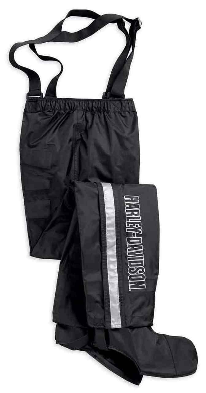 Harley-Davidson® Women's Waterproof Rain Pant w/ Rain Gaiter, Black