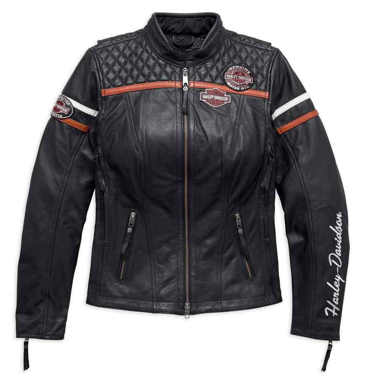Harley-Davidson® Women's Miss Enthusiast Triple Vent Leather Jacket