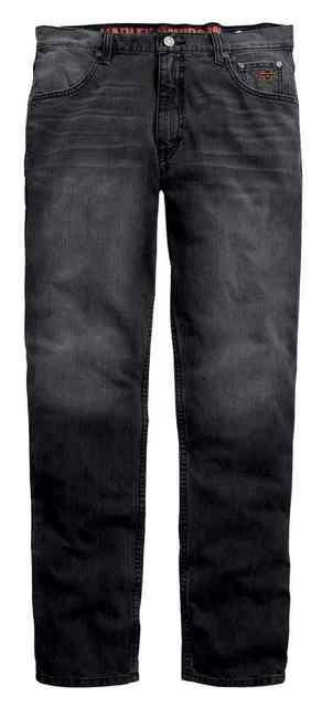 Harley-Davidson® Men's Straight Leg Fit Modern Jeans, Washed Black