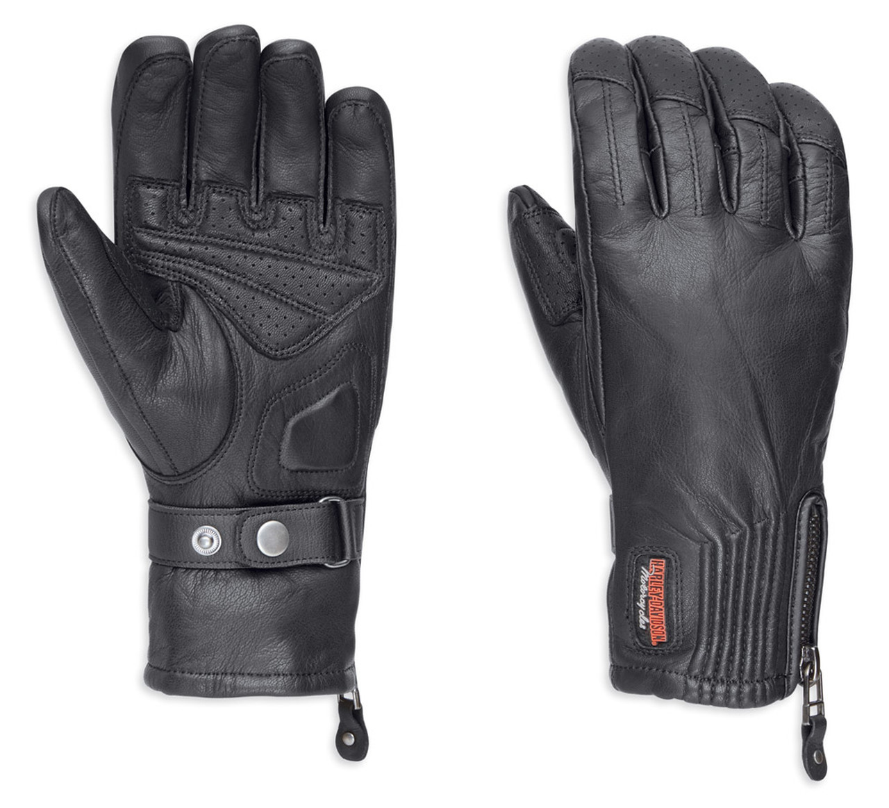 Harley-Davidson® Women's Jayden Under Cuff Gauntlet Full-Finger Gloves