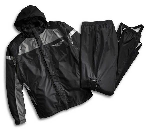 Harley-Davidson® Mens Rain Suit, Full Speed Winged B&S Reflective Suit