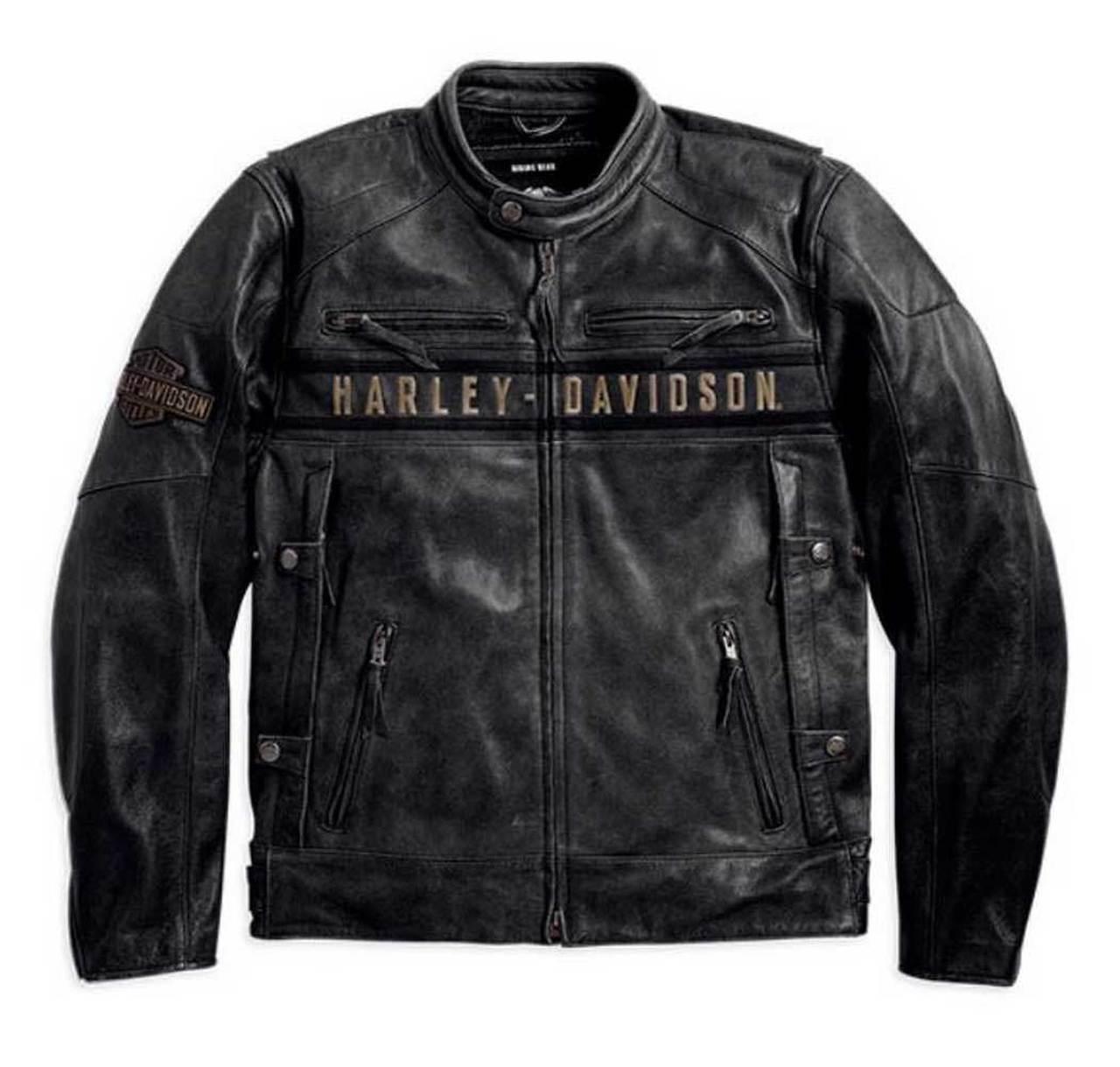 Harley-Davidson® Men's Passing Link Triple Vent Leather Jacket