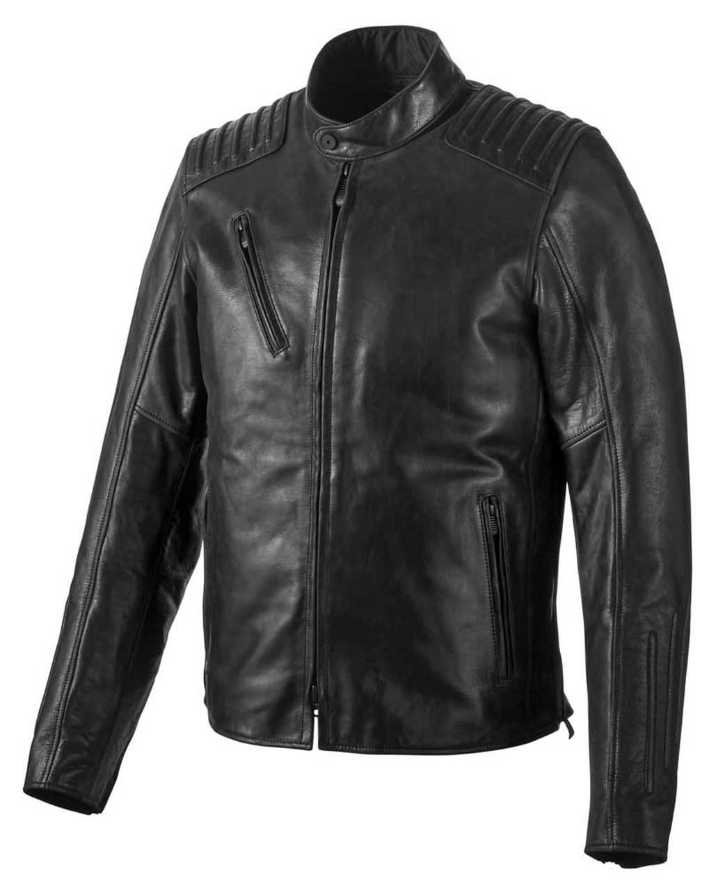Harley-Davidson® Men's Temerity Slim Fit Leather Jacket, Black
