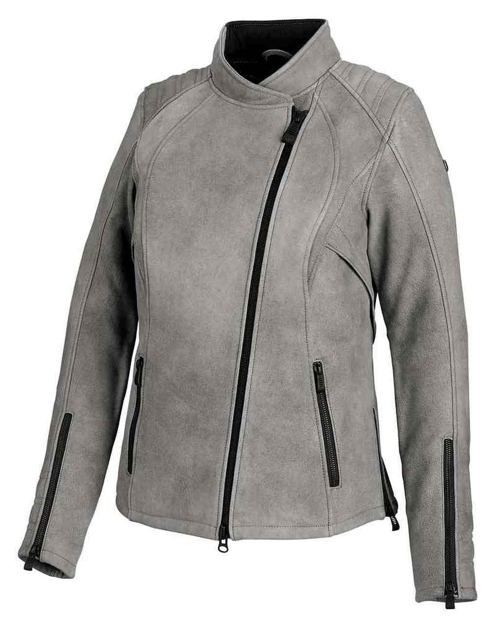Harley-Davidson® Women's Citified Mid-Weight Leather Jacket, Gray