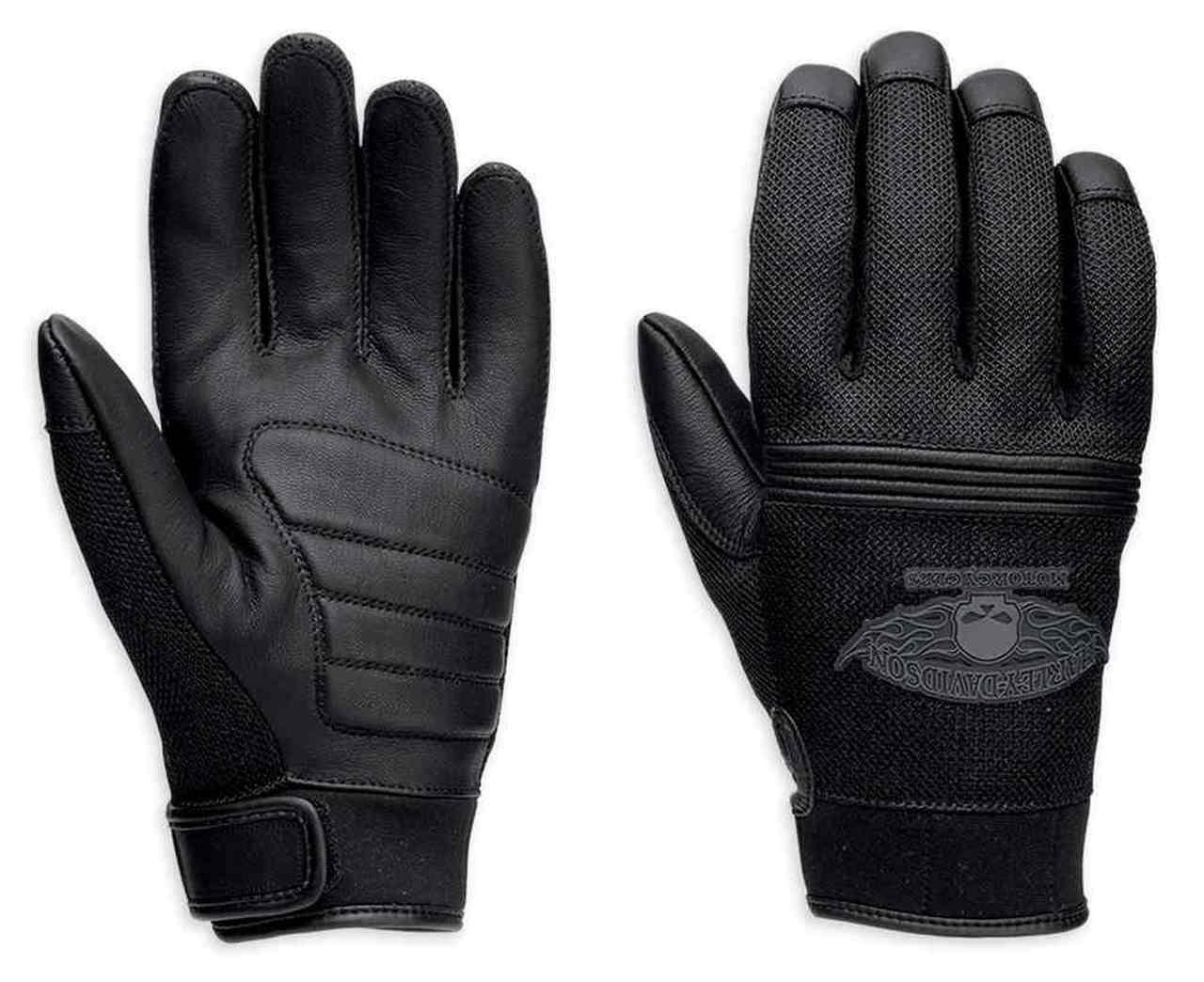 Harley-Davidson® Men's Winged Skull Full-Finger Leather Gloves