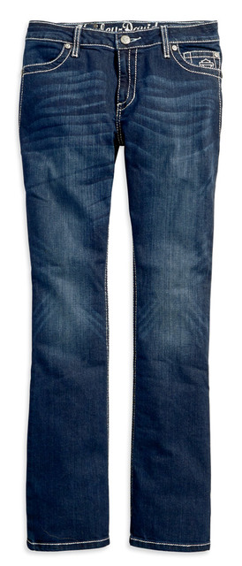 Harley-Davidson® Women's Curvy Boot Cut Embellished Mid-Rise Jeans