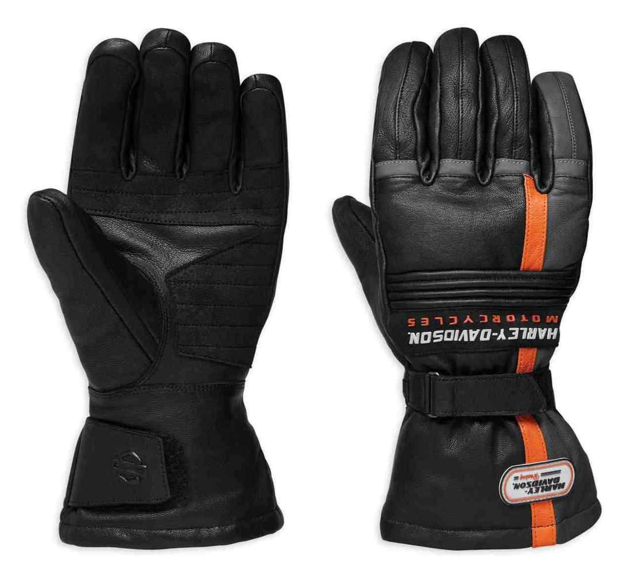 Harley-Davidson® Men's Ratchett Gauntlet Leather Gloves, Black