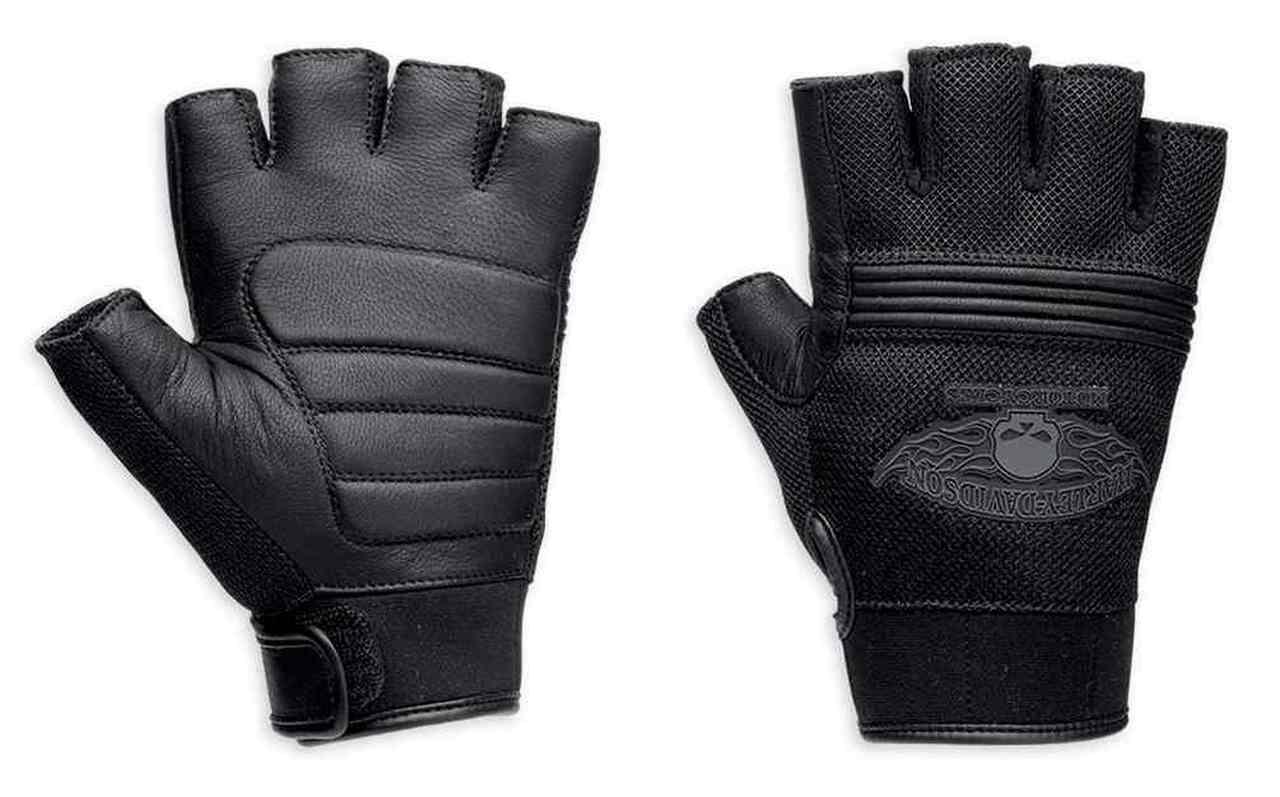 Harley-Davidson® Men's Winged Skull Fingerless Gloves