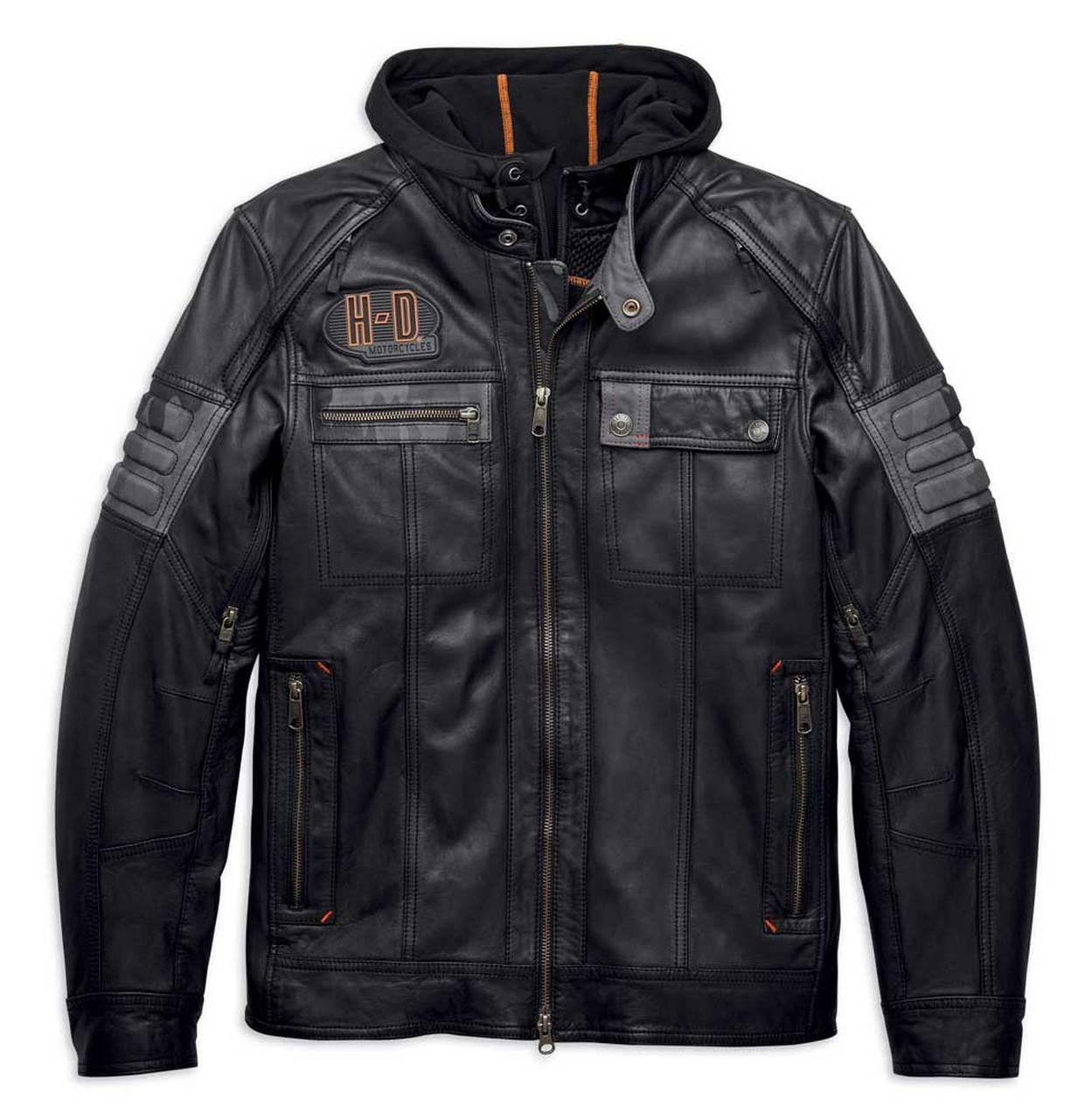 Harley-Davidson® Men's Bridgeport 3-IN-1 Leather Jacket, Black