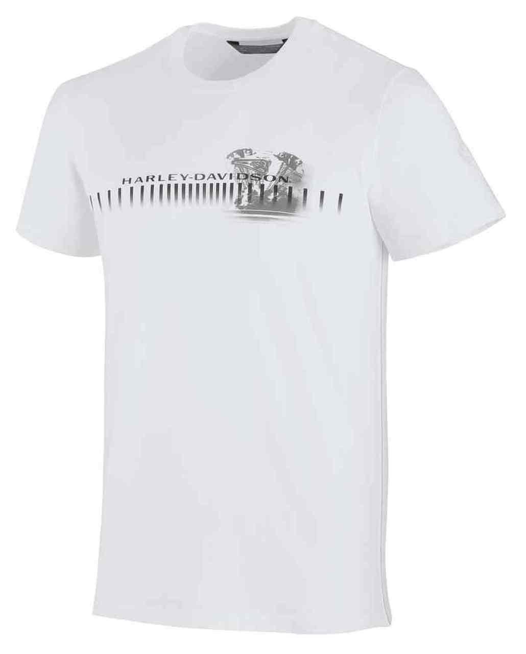 Harley-Davidson® Men's Horizontal Engine Print Slim Fit Tee, White