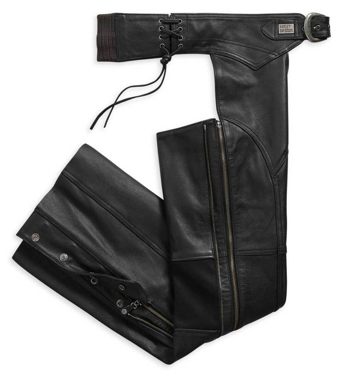 Harley-Davidson® Women's Deluxe II Midweight Leather Chaps, Black