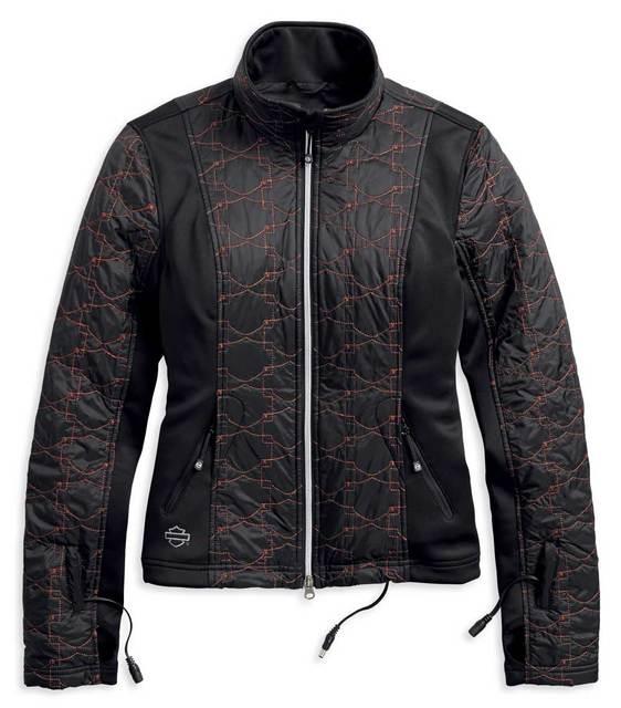 Harley-Davidson® Women's Heated BTC 12V Quilted Jacket Liner, Black