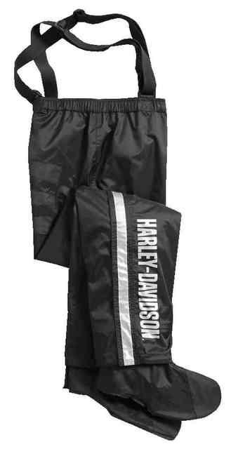 Harley-Davidson® Men's Rain Pants w/ Rain Gaiter, Waterproof Nylon