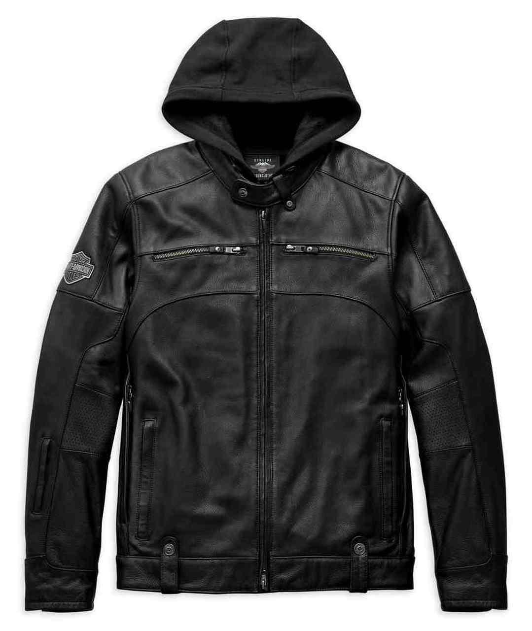 Harley-Davidson® Men's Swingarm 3-IN-1 Leather Jacket, Black