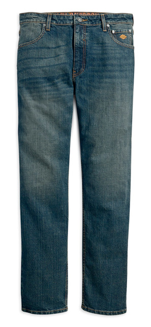 Harley-Davidson® Men's Straight Leg Fit Modern Stretch Jeans, Indigo