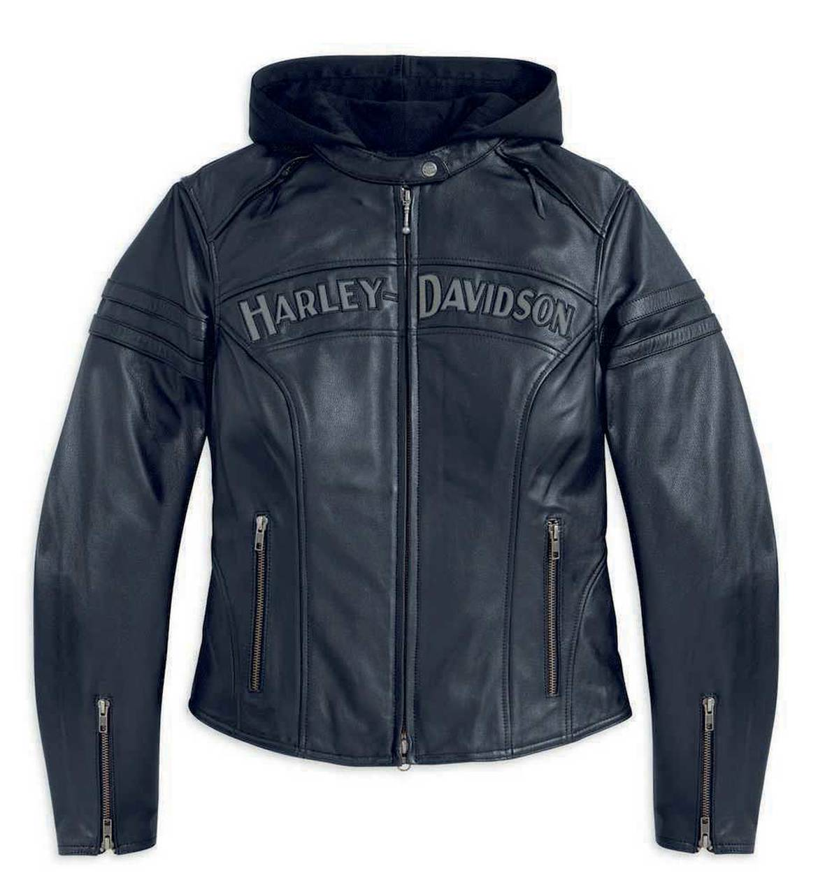 Harley-Davidson® Women's Miss Enthusiast 3 in 1 Leather Jacket