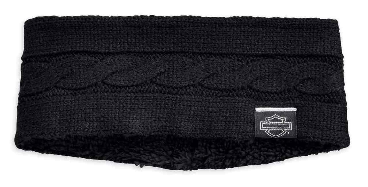 Harley-Davidson® Women's Cable Knit Ear Warmer w/ Sherpa Fleece Lining