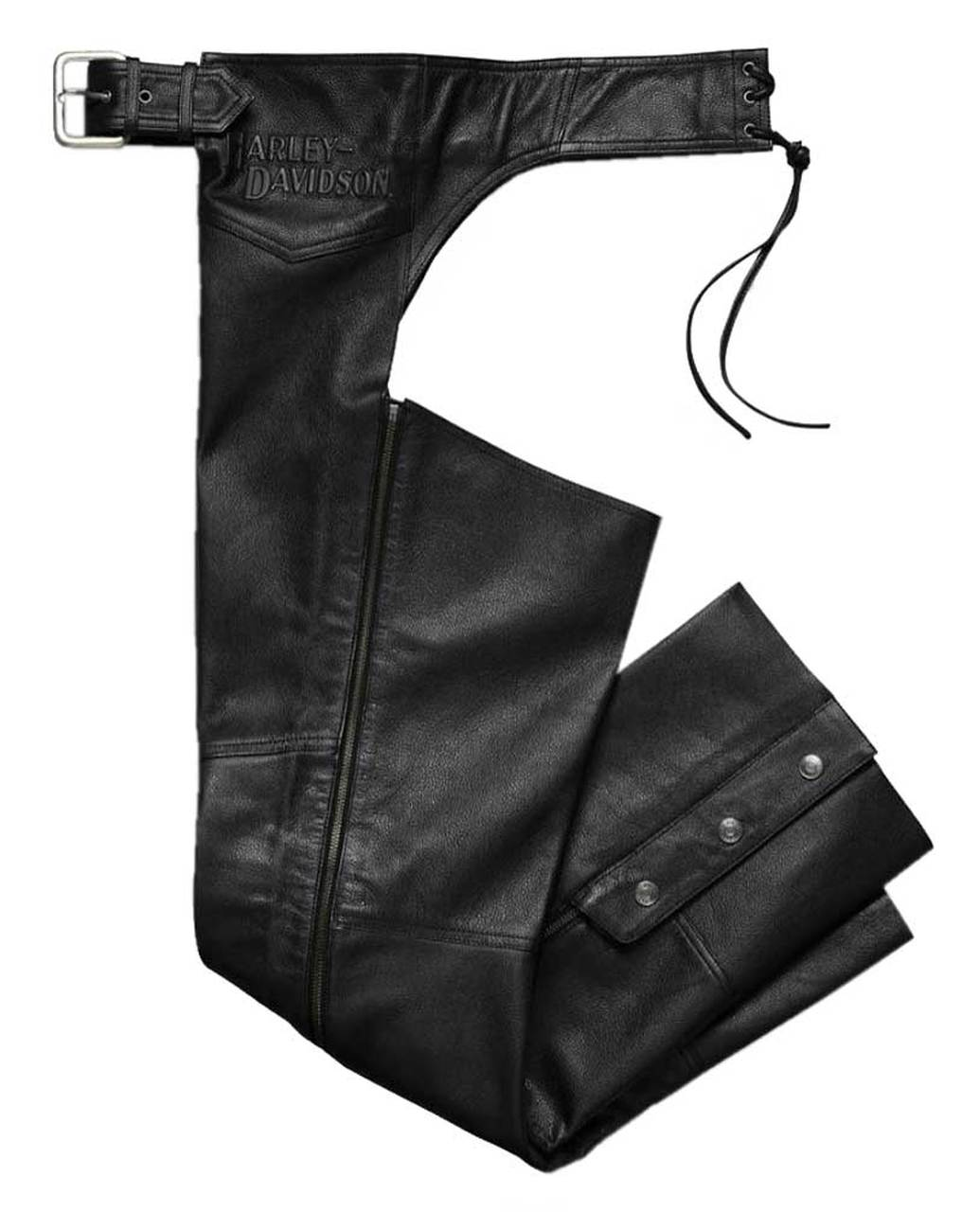 Harley-Davidson® Men's Stock II Midweight Leather Chaps - Black
