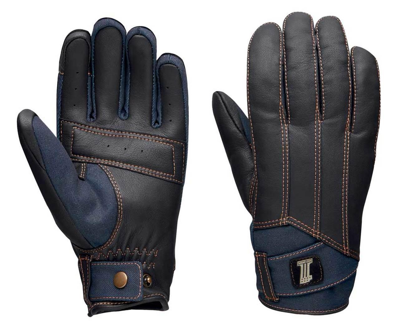 Harley-Davidson® Men's Arterial Perforated Leather & Denim Gloves