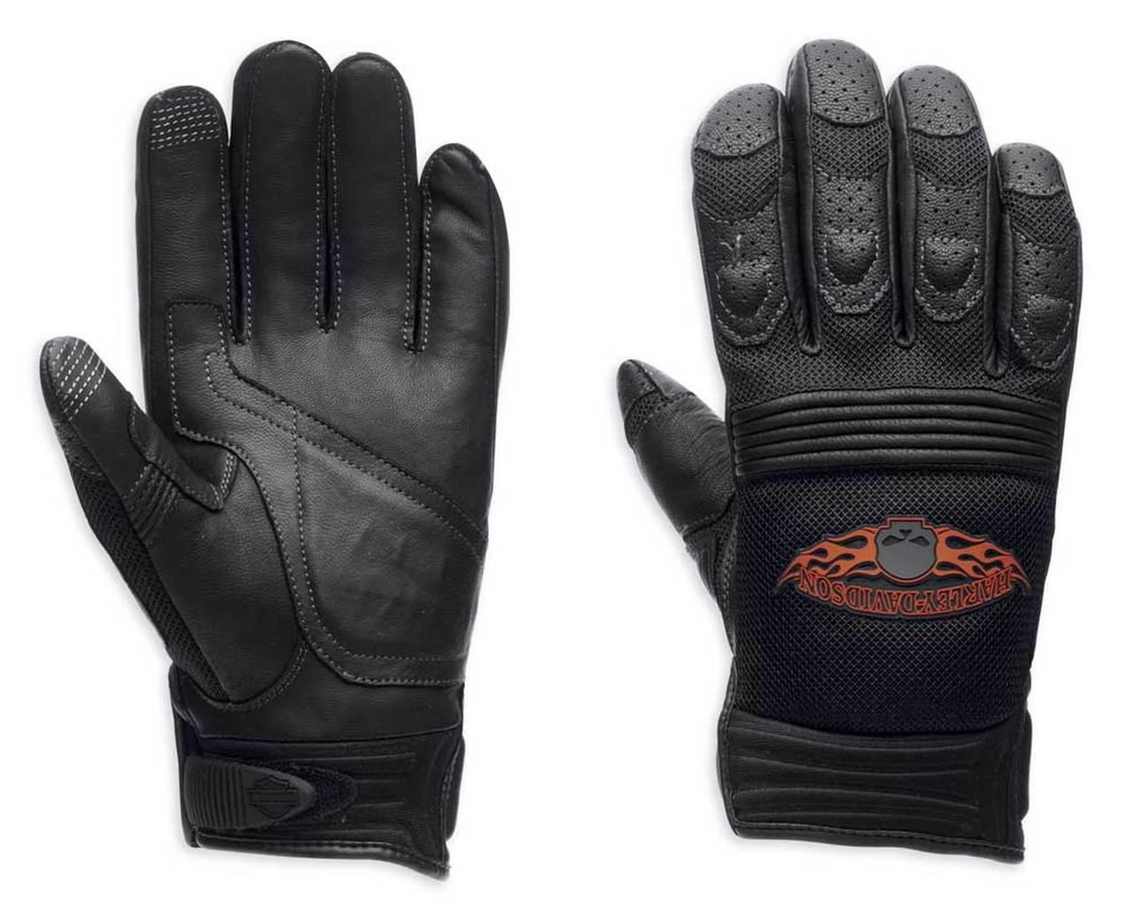 Harley-Davidson® Men's Burning Skull Full-Finger Gloves