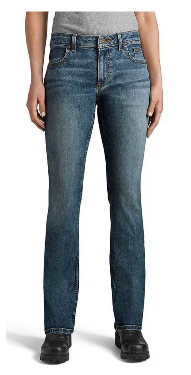 Harley-Davidson® Womens Curvy Bootcut Performance Jeans, Medium Indigo