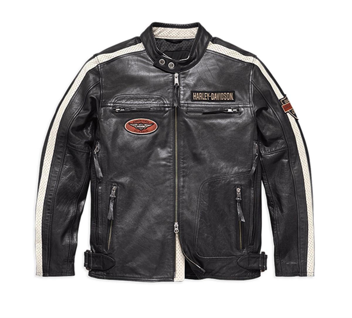 Harley Davidson command leather jacket men's, black
