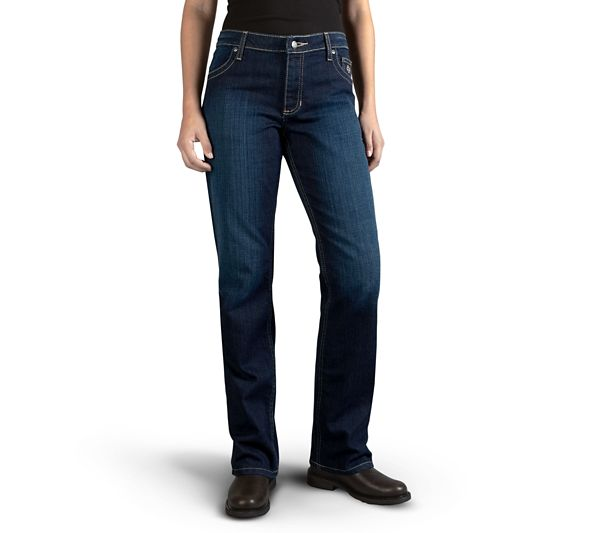 Harley-Davidson® Women's Mid-Rise Boot Cut Embellished Jeans