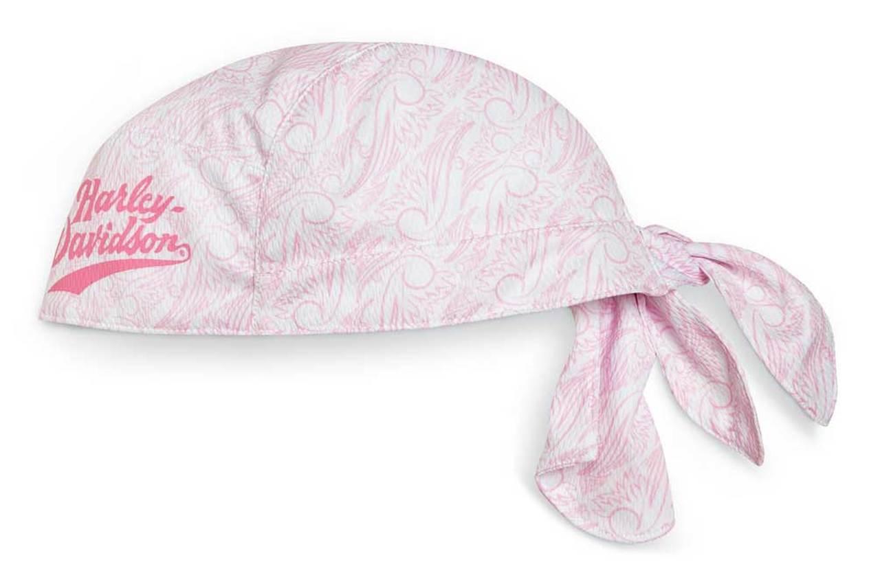Harley-Davidson® Women's Pink Label Performance Headwrap, Pink/White