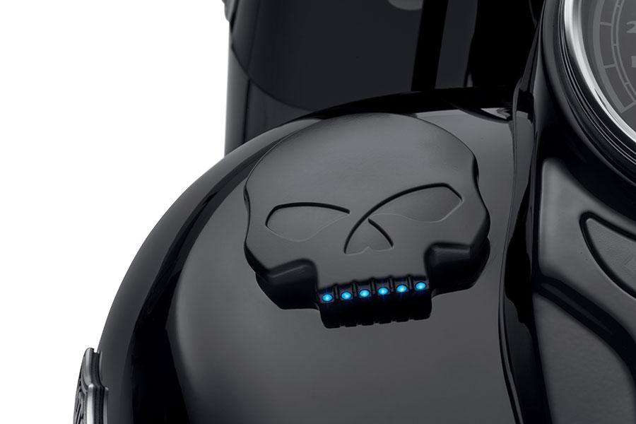 JAUGES DE CARBURANT À LED - BLACK SKULL