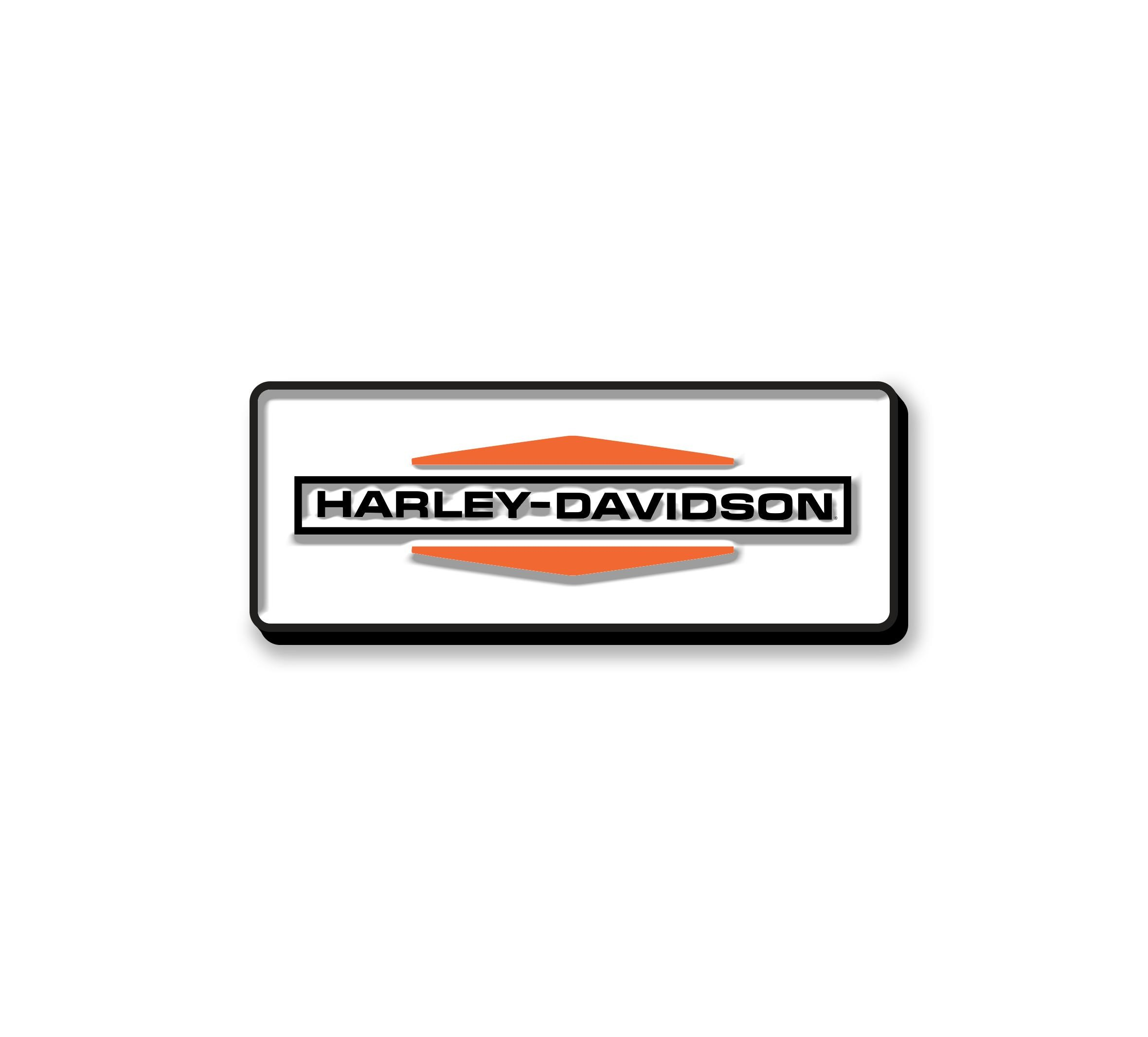 HARLEY DAVIDSON STACKED LOGO ENAMEL PIN
