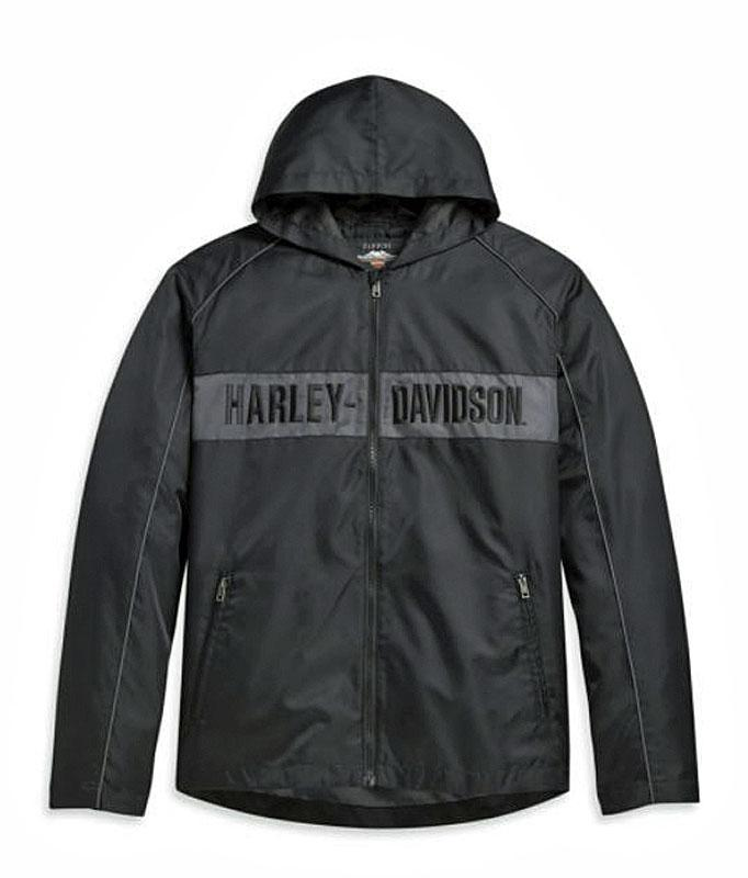 HARLEY DAVIDSON JACKET-WOVEN,BLACK/GREY