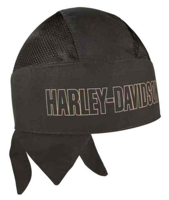 HARLEY DAVIDSON HEADWRAP, BROWN 100% POLYESTER